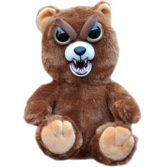 Sir Growls-a-Lot is the kind of teddy bear you don't want to run into in a dark alley. http://www.coppinsgifts.com/william-mark-feisty-pets-teddy.html