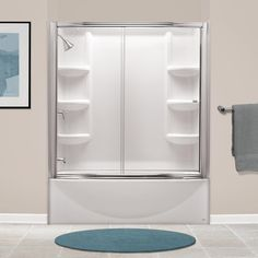 Shop American Standard Saver Arctic White High-Impact Polystyrene Bathtub Wall Surround (Common: 30-in x 60-in; Actual: 58-in x 30-in x 60-in) at Lowes.com