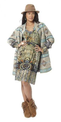 Tessa Koops collection 2016 - the CARA IKAT COAT   #tessakoops #coat #fashion #fallwinter #amsterdam #wfc #worldfashioncenter #caraikat #winter #shoppingpage #dutchdesign