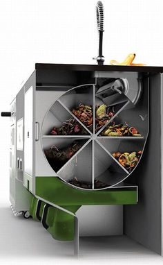 Ekokook Future Kitchen Design Inspired To Design Your Dream Kitchen Awesome Futuristic Kitchen Designs Ideas Smart Kitchen, Kitchen Sets, Green Kitchen Designs, Design Kitchen, Culinary Arts Schools, Workplace Design, Design Studio, Sustainable Design, Recycling