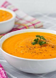 Low FODMAP & Gluten free Recipe - Carrot & ginger soup