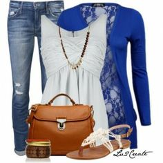 Blue  Tan outfit  from ILoveCuteFashion.com