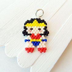 Super Hero Warrior Princess Character - Pendant / Charm Seed Bead Bead Weaving