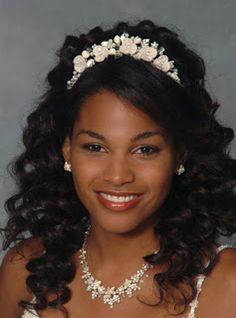African American Wedding Hairstyles & Hairdos: long hair