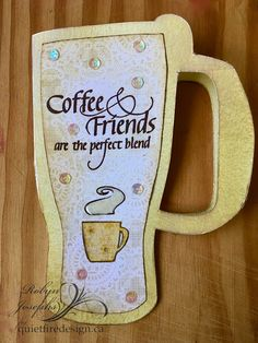 Coffee or Tea Dingbat Font- Coffee and Friends are the perfect blend.