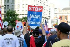 war-on-workers http://www.politicususa.com/2014/09/02/republicans-mocked-labor-day-war-workers.html