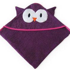 Toalla Toallón con capucha Búho violeta