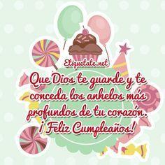 Tarjetas de cumpleaños que se puedan compartir en Facebook Happy Birthday Quotes, Happy Birthday Wishes, It's Your Birthday, Birthday Memes, Wish Quotes, Happy Quotes, Spanish Birthday Wishes, Birthday Blessings, Happy B Day