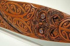 Image result for maori paddle for waka Maori Words, Maori Patterns, Polynesian People, Pattern Meaning, Tiki Mask, Maori Art, Bone Carving, Abalone Shell, Aboriginal Art