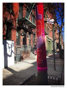 Mit Liebe gehäkelt. Vorfrühlingstag in New York.