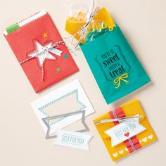 Julie's Stamping Spot -- Stampin' Up! Project Ideas by Julie Davison: VIDEO: Skinny Mini Treat Bag Tutorial