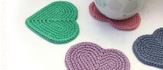Free Heart Coaster Crochet Pattern - Hooked On Patterns Quick Crochet Patterns, Crochet Coaster Pattern, Unique Crochet, Crochet Ideas, Crochet Pony, Free Crochet, Beginner Crochet Projects, Holiday Crochet, Crochet Dishcloths