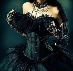 Goth: The #Wardrobe #Goth Victorian corseted gown.