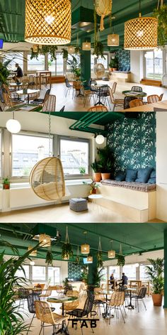 Tropical coworking space with bars Restaurant Zen, Organic Restaurant, Restaurant Concept, Lounge Design, Cafe Design, Commercial Design, Commercial Interiors, Tea Room Decor, Interior Architecture