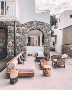 That feeling of lounging in perfect style… This is My Mykonos Stop missing, start dreaming! Mykonos Hotels, Summer Is Here, Greek Islands, Outdoor Furniture, Outdoor Decor, Sun Lounger, Summertime, Greece, Patio