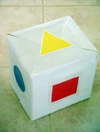 Shape and Color Recognition Dice Game - Roll the die and have the kids find the corresponding color/shape in the room