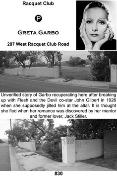 Greta Garbo's Palm Springs residence. All that remains is the foundation of the home.