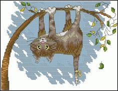 "Free cross-stitch pattern ""Help!""   Cross-Stitch Club"