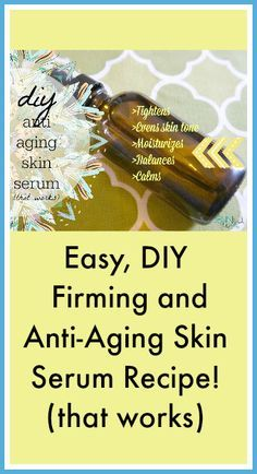 Turn back the clocks with this anti aging skin serum recipe! It's filled with powerful antioxidants that will tighten, moisturize and even skin tone.