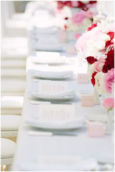 so pretty wedding table setting Photography © - Pierre Atelier