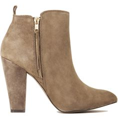 Steve Madden Jannyce Suede Booties ($62) ❤ liked on Polyvore