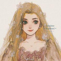 Anime Princesse Disney, Anime Disney, Disney Tangled, Disney Fan Art, Punk Disney, Disney Princess Drawings, Disney Princess Art, Disney Princess Pictures, Disney Drawings
