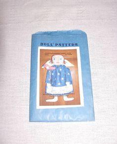 Primitive Patriotic Raggedy Angel Doll Bird by FosterChildWhimsy