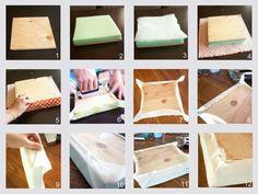 Taking Time To Create: Patchwork Headboard {Tutorial} diyartwork Bed Headboard Design, Cushion Headboard, Diy Cushion, Diy Outdoor Furniture, Diy Furniture, Home Decor Fabric, Diy Home Decor, Dollar Tree Decor, Headboards For Beds