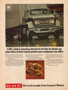 Details about 1969 GMC semi truck Cummins diesel engine General Motors GM  vintage color ad 2e1a56664750