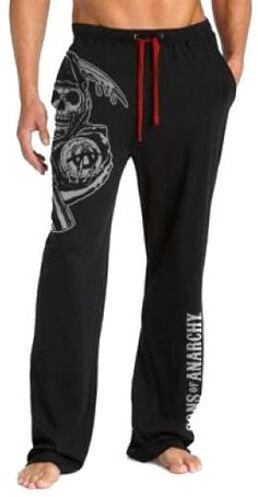 Sons Of Anarchy Lounge Pants  Jumbo Reaper by rwelite on Etsy, $25.99