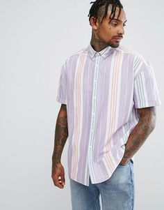 Get this Asos's striped shirt now! Click for more details. Worldwide shipping. ASOS Oversized Vintage Oxford Stripe Shirt - Pink: Oxford shirt by ASOS, Breathable cotton, Stripe print, Button-down collar, Button placket, Oversized fit - falls generously over the body, Machine wash, 100% Cotton, Our model wears a size Medium and is 185.5cm/6'1 tall. ASOS menswear shuts down the new season with the latest trends and the coolest products, designed in London and sold across the world. Update…