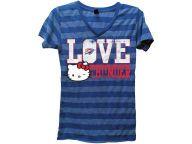 Buy Oklahoma City Thunder NBA Womens Dancing Hearts HK Striped Vneck T-Shirt T-Shirts Apparel and other Oklahoma City Thunder products at Lids.com