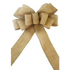 Pew Bows Burlap Natural Jute - Set of 4 Premium Burlap Bows- Wedding Decoration