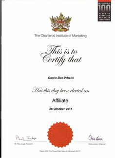 Cpd certificate of professional development from cim chartered acim affiliate member of chartered institute of marketing cpd certificate of professional development 2011 2012 the mark of an up to date marketing fandeluxe Image collections