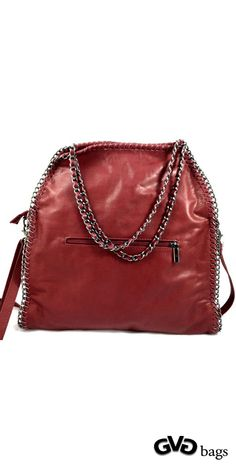 Jenny - Womens Red Genuine Italian Leather Shoulder Bag #Jenny #Red #Women #Leather #ShoulderBag gvgbags.com