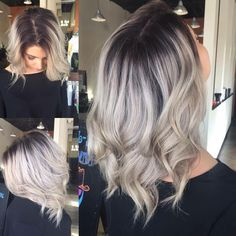Sleek and Glossy Blonde Balayage Bob Balayage Hair Blonde, Blonde Wig, Baliage Hair, Balayage Bob, Blonde Hair With Roots, Hair Color And Cut, Wig Hairstyles, Men's Hairstyle, Funky Hairstyles