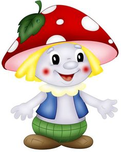 "Photo from album ""Грибы"" on Yandex. Clip Art Pictures, Pictures To Draw, Cute Pictures, Fairy Coloring, Coloring Pages, Mushroom Clipart, Mushroom Decor, Canson, Boy Illustration"