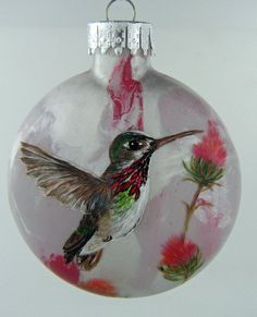 Image result for hummingbirds on christmas balls