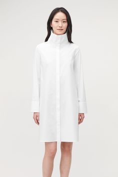 62459a9a3bb COS | Cotton Cuff Sleeves, Collar Dress, Contemporary Fashion, Shirt Style,  Cotton