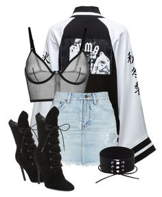 A fashion look from January 2017 featuring Puma, Yves Saint Laurent and bralette lingerie. Browse and shop related looks. Cute Swag Outfits, Edgy Outfits, Mode Outfits, Retro Outfits, Elegantes Business Outfit, Elegantes Outfit, Kpop Fashion Outfits, Stage Outfits, Style Feminin