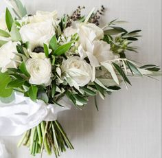 White and olive bouquet