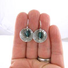 Emerald Earrings Swarovski Crystal Jewelry by JenniferCasady