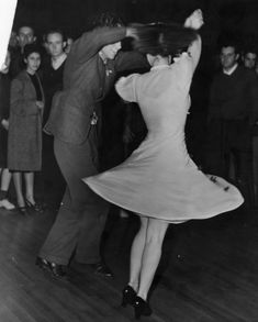 Couple dances at the Ambassador Hotel in 1940s Los Angeles.
