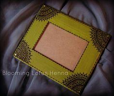 Olive Mandala Corners Henna Picture Frame, via Flickr.