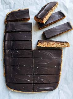 Healthy Chocolate Peanut Butter Candy Bars