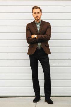 "Via stayclassic:""April 19, 2014. Night. Blazer: Topman Shirt: J. Crew Pants: AllSaints Outlet Shoes: J75 Marconi Belt: J. Crew Factory Watch: Stillwell in Chocolate - Jack Spade"""