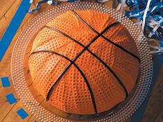 Basketball Cake - You don't need to be a sports fan to enjoy this chocolate cake, with its textured frosting and licorice seams.