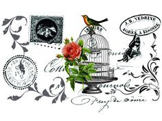 Decoupage transfer Vintage images  for personal use MI BAUL DEL DECOUPAGE: TRANSFERS VINTAGE