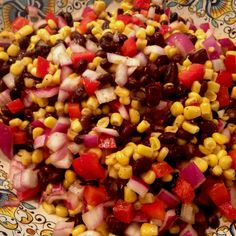 Black bean and corn salad (4th of July dinner)