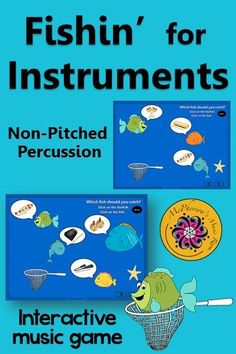 Working on aurally identifying non-pitched percussion instruments? Your elementary music students will fall in love with this interactive game! Easy activity to add to lesson plans!